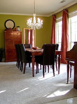Acid green dining room, dining room, interior design, home interior