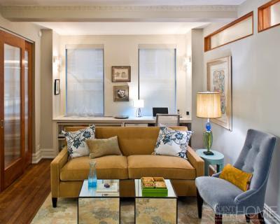 Elegant compact living room, living room, interior design, home interior