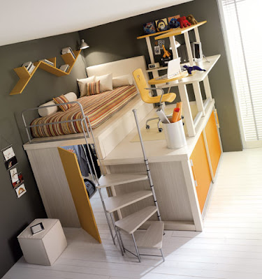 Teenage Room Design on Colorful Teenage Loft Bedrooms   Orange Jpg