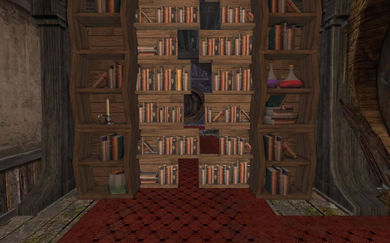 Passage secret dans une bibliothèque © glorom1er.blogspot.com