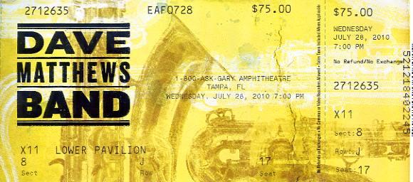 Dave Matthews Band Tickets - StubHub