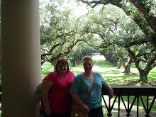 On the veranda @ Oak Alley Plantation