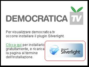 silverligth sul sito del pd