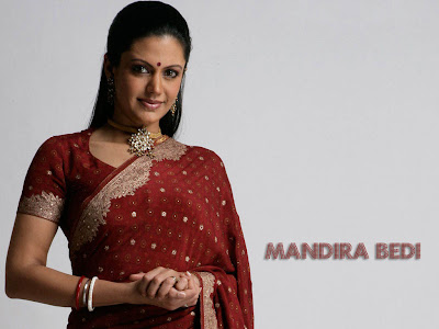 Mandira bedi also popularly known as shanti wallpapers in sarees.