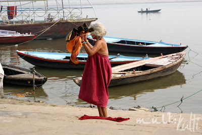 Indie Varanasi Ganges