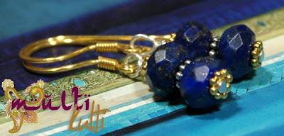 lapis lazuli kolczyki etniczne