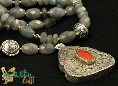 biżuteria: labradoryt, srebro