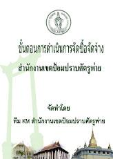หัวข้อ KM ปี 2551 : ขั้นตอนการดำเนินการจัดซื้อจัดจ้าง