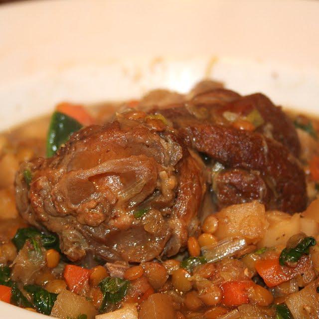 pepsakoy: Braised Lamb Shank with Lentil