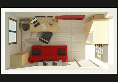 Architecte int rieur 3d divers propo pour am nagement - Amenagement bureau chambre d amis ...