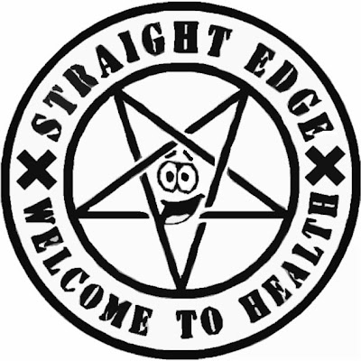 стикер Straight Edge Welcome to Health