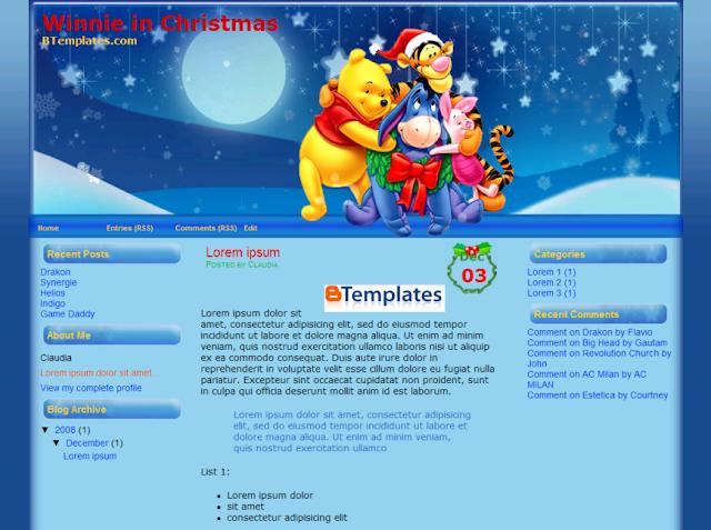 template-winnie-in-christmas