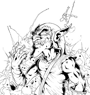 Quatroletras green goblin for Green goblin coloring pages