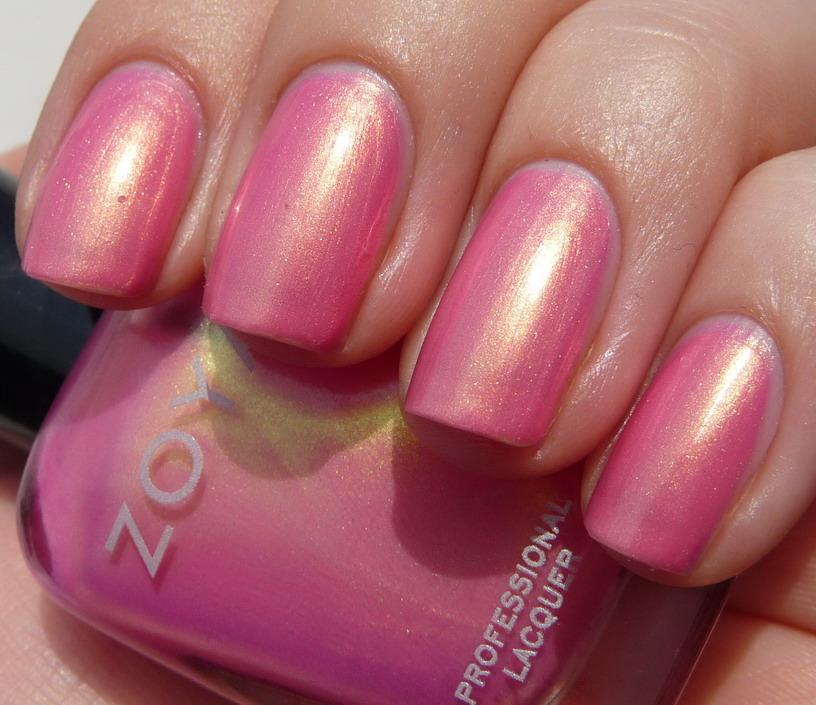 Chrome Nail Polish Usa: Baby Pink Duo Chrome Gold Shimmer Nail