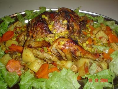 9 طريقة عمل الدجاج المحشي بالخضار
