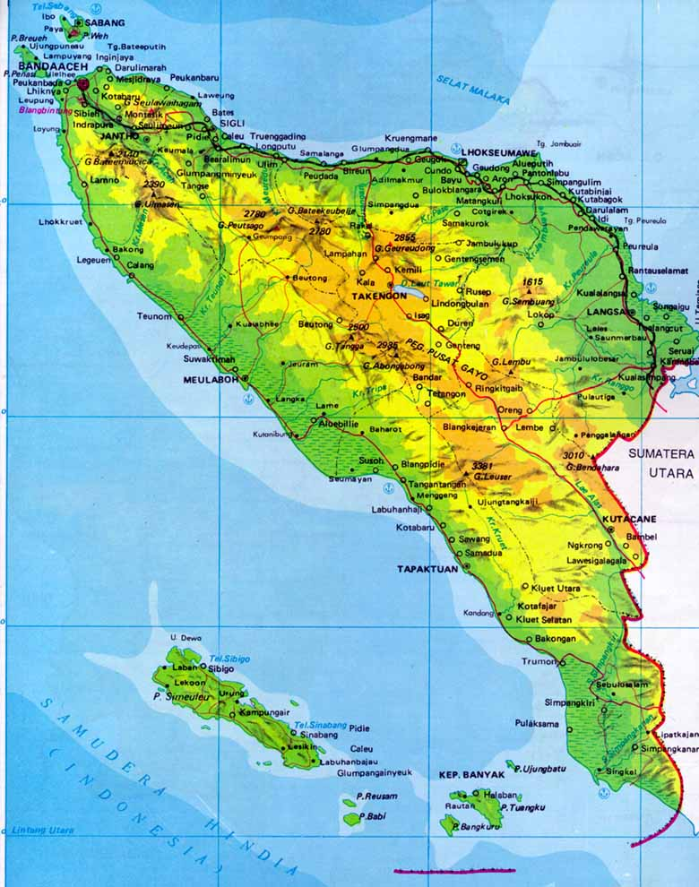 Aceh Indonesia Map