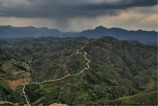 the great wall of china from above