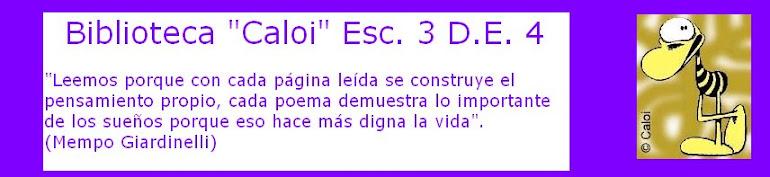 """Biblioteca """"Caloi"""" Esc.3 D.E 4º"""