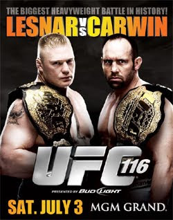 UFC 116 Fight Card : Lesnar vs Carwin