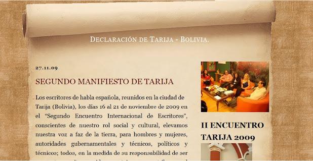 II MANIFIESTO DE TARIJA 2009.
