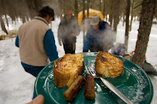French Toast Breakfast During Winter Camping Trip