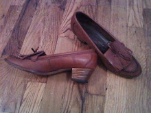 Vintage Hi Heeled loafers