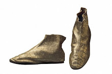 Vintage gold booties
