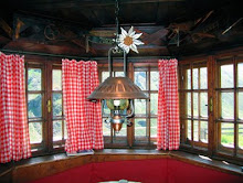 interior of potsdamer mountain hut