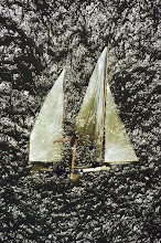 Capsized sailboat