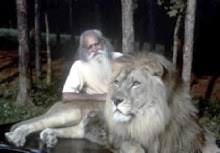 Swami with a lion