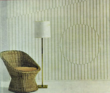 wicker chair and lamp