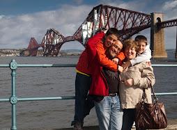 Los cuatro en Edimburgo