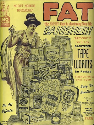 Using worms as a treatment is not a new idea, but it has certainly evolved since this ad from 1903