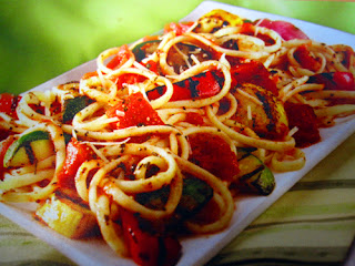 Morsels of Life - Pasta Primavera - Just toss some vegetables and pasta together for this tasty pasta primavera.