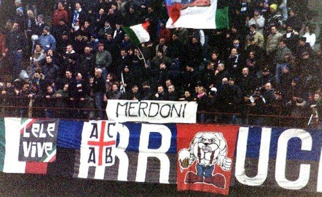 INTER atalanta 2004/05  striscione esposto dai Fò de Co'