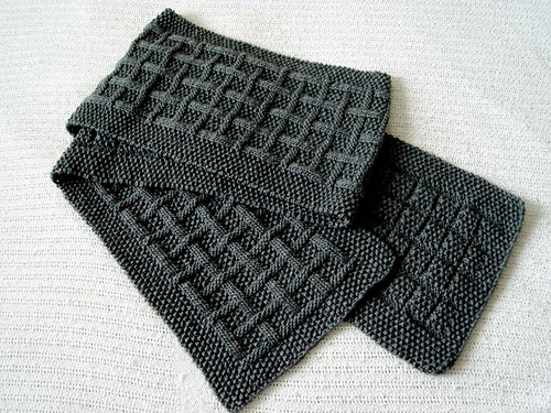 Узоры вязания спицами мужской шарф.