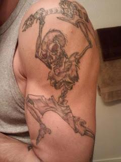 Tattoo Jason's left arm