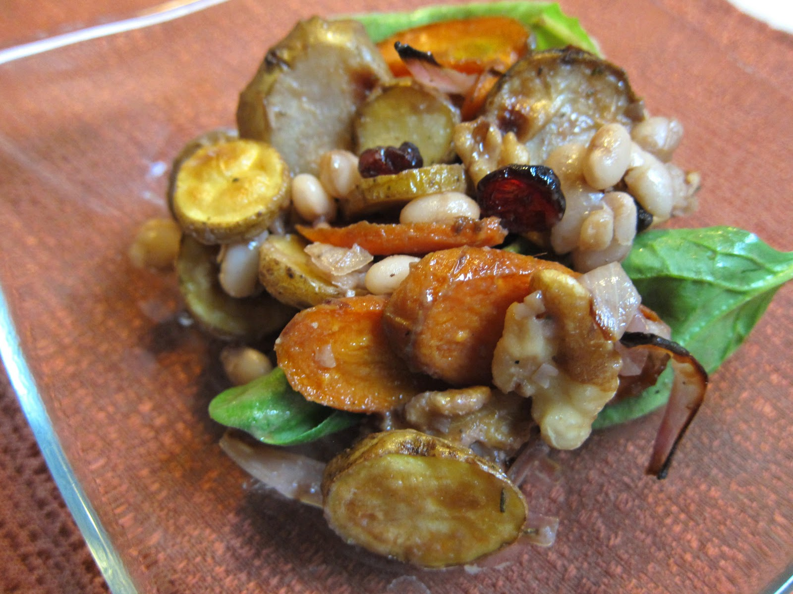 ... and Sea Salt: Warm White Bean and Roasted Winter Vegetable Salad