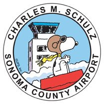 Snoopy's Sonoma County airport logo