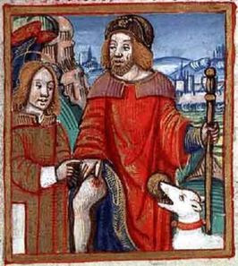 St Roch and his dog