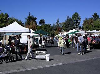 Farmers' market in Sebastopol, West Sonoma County, California