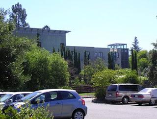 view from parking lot behind Hotel Healdsburg