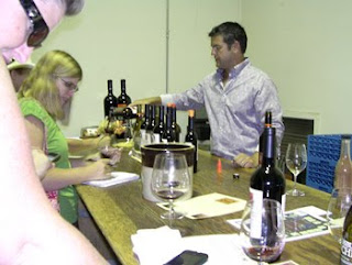 Chris Donatiello pouring Bradford Mountain wines