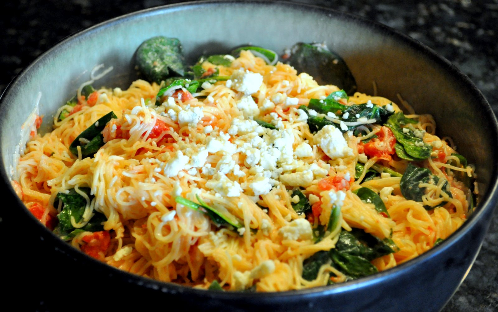 Pasta With Tomato-Blue Cheese Sauce Recipe — Dishmaps