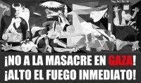 NO a la masacre en Gaza
