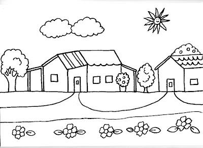 Dibujos para ni os gratis para imprimir y colorear - Imagenes infantiles de casas para colorear ...