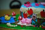 Tessa's Barnyard Animals Cake