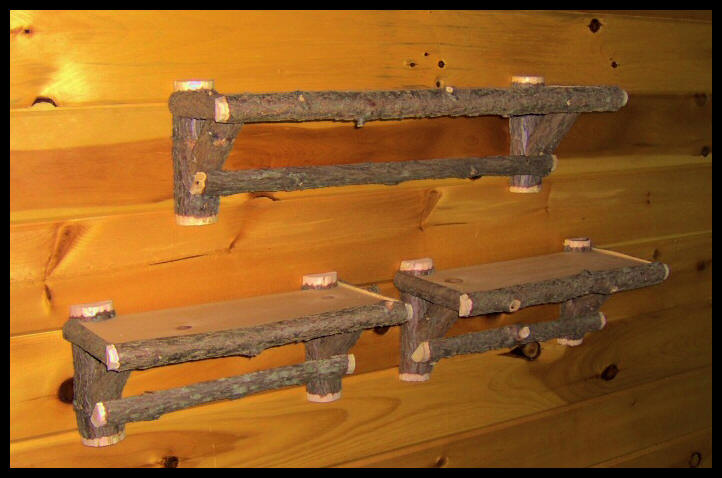 Rustic Cedar Shelves