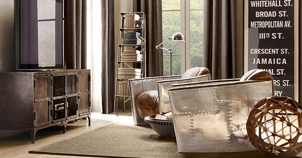 Inspired By World War II Bomber Planes And Designed By Timothy Oulton Aviator  Chair Is Availiable At Restoration Hardware. Aluminum Wrapped Curves,  Padded ...