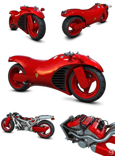 Ferrari V4 Motorcycle Concept | Spicytec